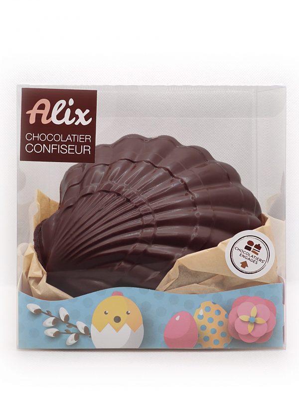 Coquillage en chocolat noir