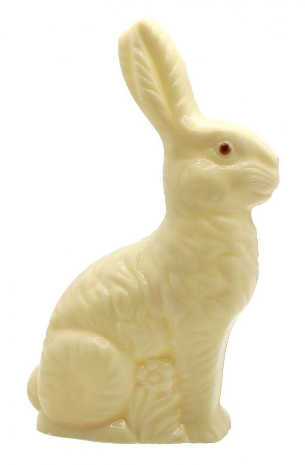 Petit lapin en chocolat blanc