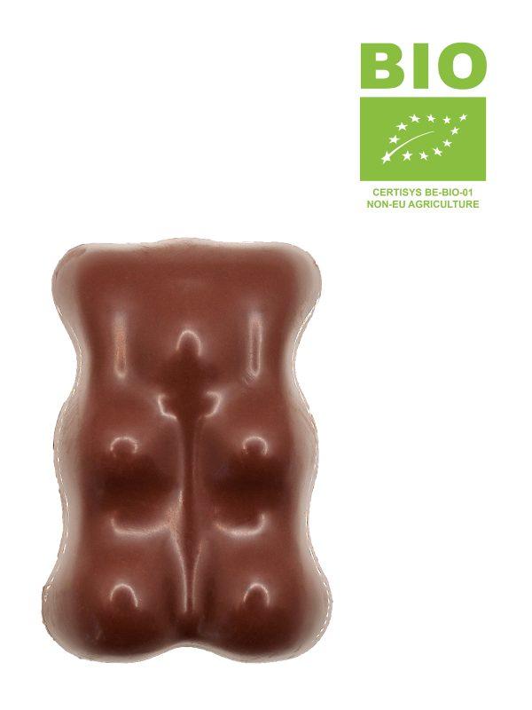 Ourson guimauve enrobé de chocolat au lait BIO